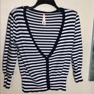 Sweaters - Striped Cardigan Sweater
